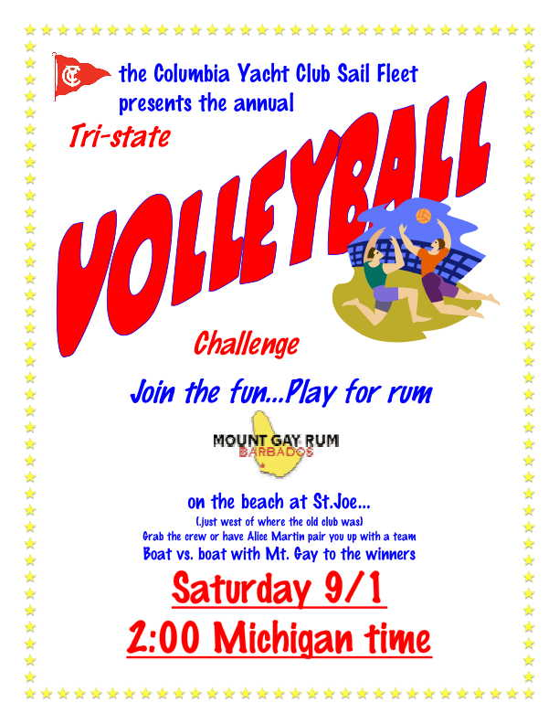 2007 Tri-State Regatta Volleyball announcement