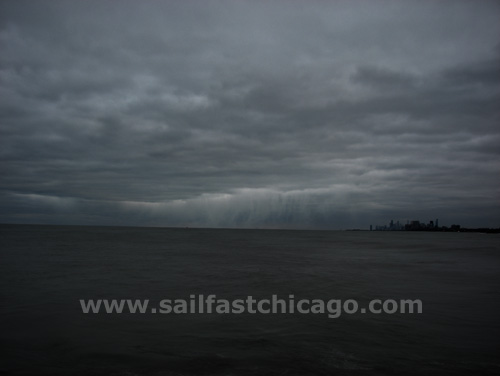 Chicago skyline gothic Lake Michigan weather front - Saturday, November 15, 2008