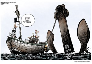 Barack Obama the sailor shows us how not to sail fast.