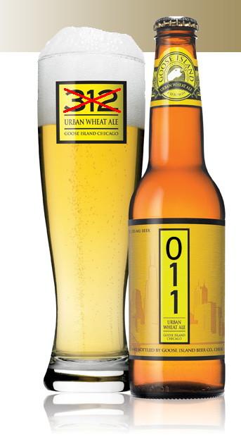"""Goose Island renames """"312"""" to """"011"""" beer."""